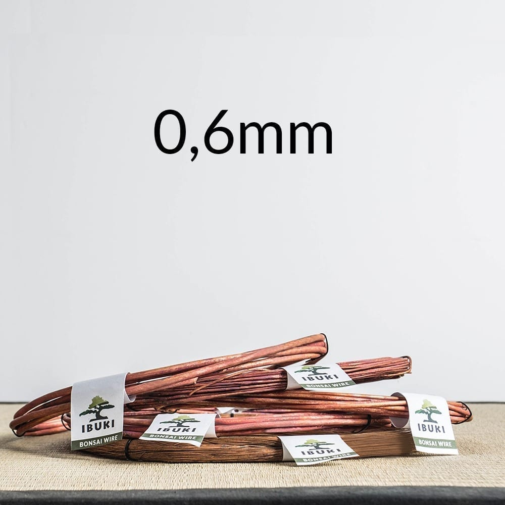 06mm Copper Bonsai Wire 0,8mm 0,5 kg   Image of 06mm