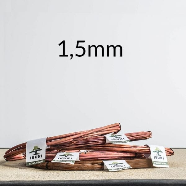 15mm 1 Copper Bonsai Wire 1,5mm 0,5kg   Image of 15mm 1