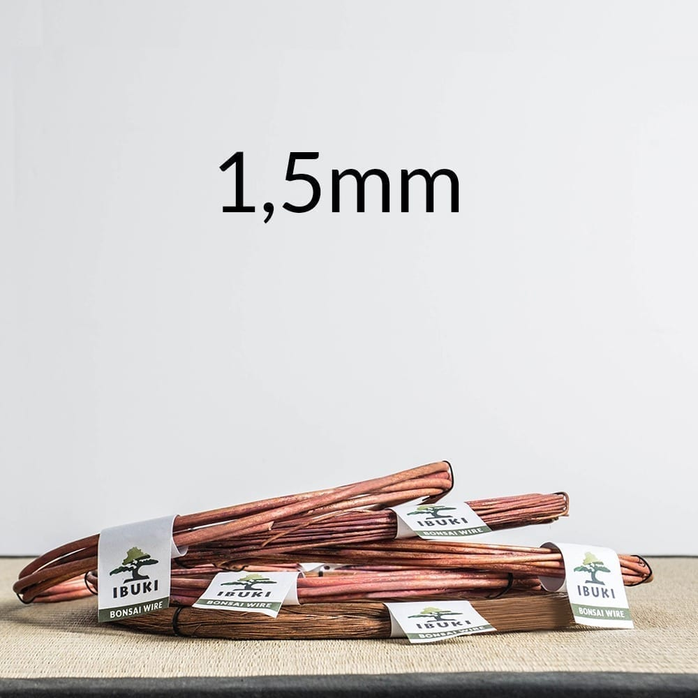 15mm 1 Copper Bonsai Wire 3,5mm   Image of 15mm 1