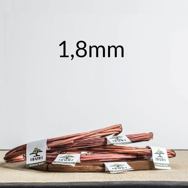 18mm Copper Bonsai Wire 1,8mm 1kg   Image of 18mm