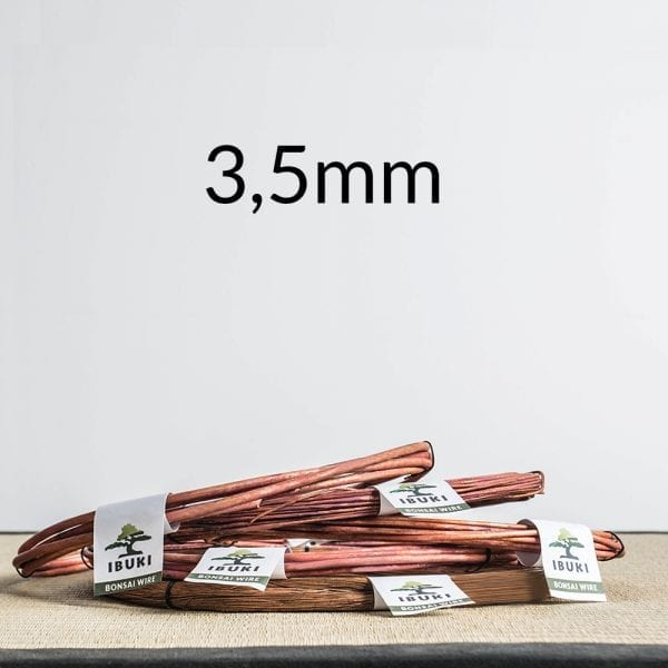 35mm 1 Copper Bonsai Wire 3,5mm 1kg   Image of 35mm 1
