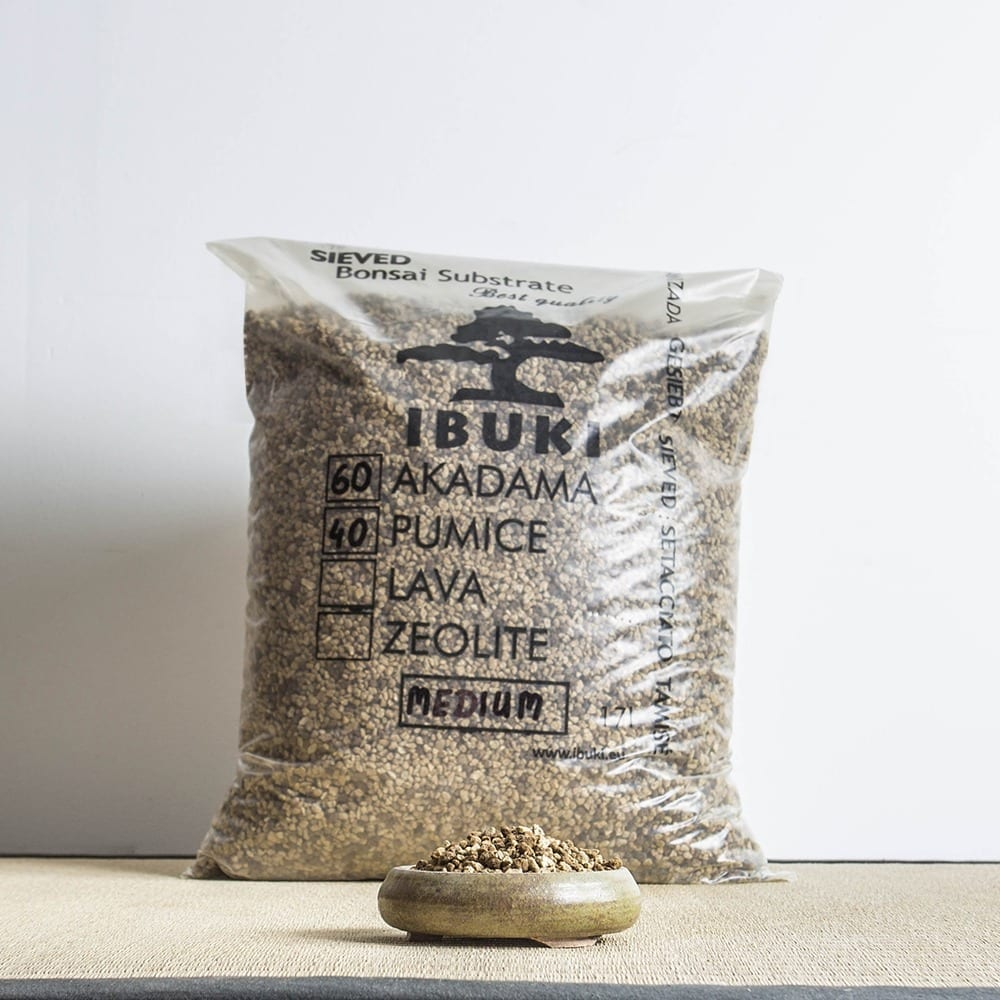 60akadama50pumice medium1 MIX AKADAMA 60% / PUMICE (BIMS) 40% IBUKI Bonsai Sieved Substrate for leaf trees 6.5 7mm   Image of 60akadama50pumice medium1