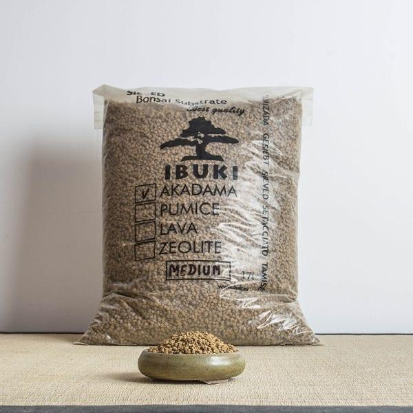 akadama medium1 IBUKI Bonsai Substrate   AKADAMA 4.5 5mm MEDIUM (17 litres)   Image of akadama medium1