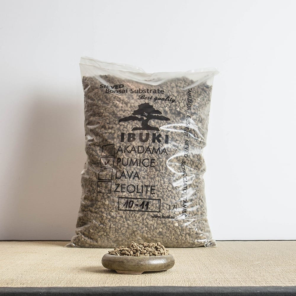 pumice xl1 MIX AKADAMA 50% / PUMICE (BIMS) 50% IBUKI Bonsai Sieved Substrate for needle trees 4.5 5   Image of pumice xl1