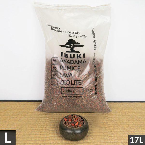 1 26 IBUKI BONSAI SIEVED SUBSTRATE MIX SEMIFIRED AKADAMA 33% / PUMICE (BIMS) 33% / LAVA 33% LARGE size 6,5 7 mm   Image of 1 26