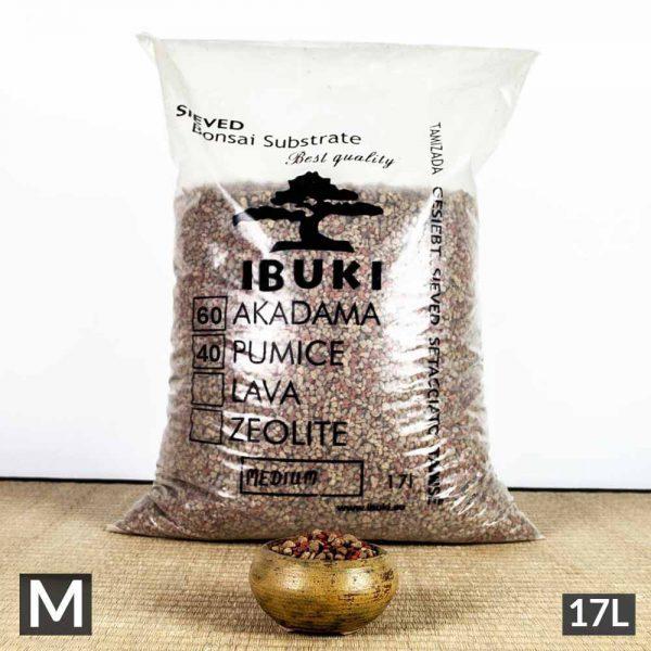 1 40 1 IBUKI BONSAI SIEVED SUBSTRATE – MIX SEMIFIRED AKADAMA 60% / PUMICE (BIMS) 40% MEDIUM size 4,5 5 mm   Image of 1 40 1