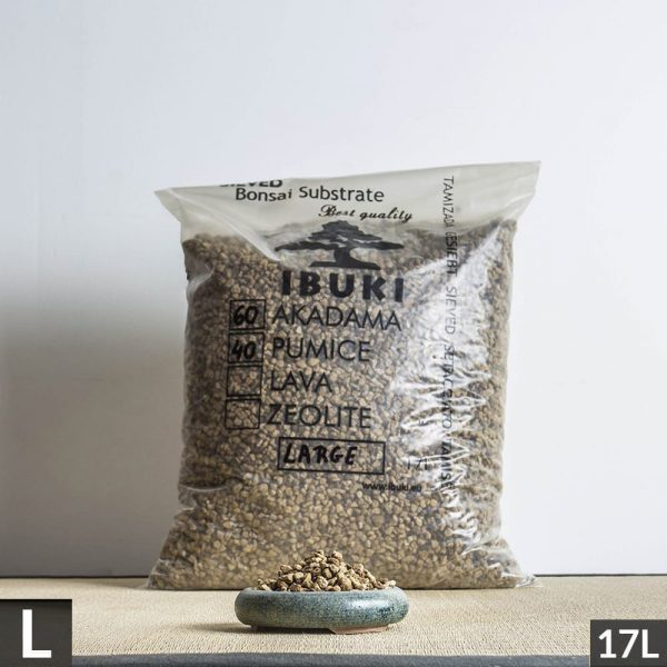 60akadama40pumice large1 1 5 MIX AKADAMA 60% / PUMICE (BIMS) 40% IBUKI Bonsai Sieved Substrate for leaf trees 6.5 7mm   Image of 60akadama40pumice large1 1 5